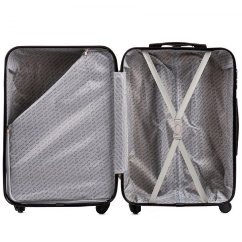 AT01, Large travel suitcase Wings L, Silver blue
