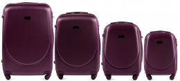 K310, Luggage 4 sets (L,M,S,XS) Wings, Dark purple