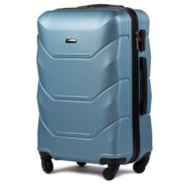 147, Middle size suitcase Wings M, Silver blue