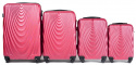 304, Luggage 4 sets (L,M,S,XS) Wings, Rose red