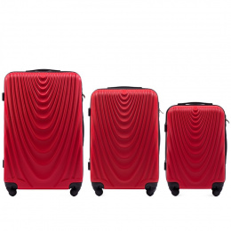 304, Luggage 3 sets (L,M,S) Wings, Blood red