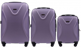 518, Luggage 3 sets (L,M,S) Wings, Light purple