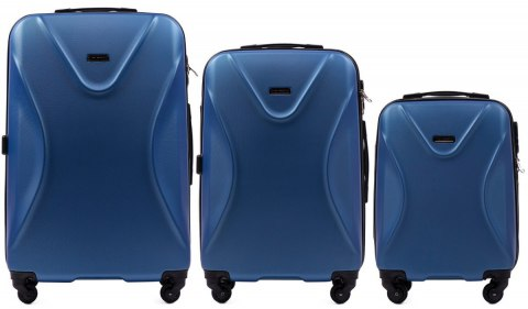 518, Luggage 3 sets (L,M,S) Wings, Middle blue