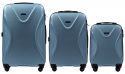 518, Luggage 3 sets (L,M,S) Wings, Silver blue