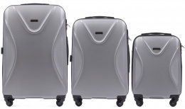 518, Luggage 3 sets (L,M,S) Wings, Silver