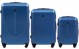 888, Luggage 3 sets (L,M,S) Wings, Middle blue