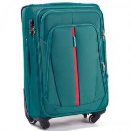 1706(4), Cabin soft travel suitcase 4 wheels Wings S, Middle blue