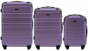 608, Luggage 3 sets (L,M,S) Wings, S. Purple