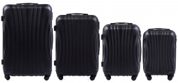 159, Luggage 4 sets (L,M,S,XS) Wings, Black