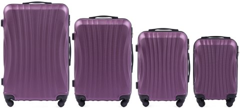 159, Luggage 4 sets (L,M,S,XS) Wings, Dark purple