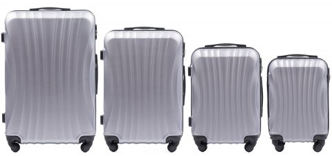 159, Luggage 4 sets (L,M,S,XS) Wings, Silver