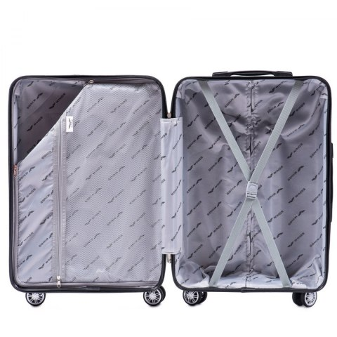 PP05, Large travel suitcase Wings L, Grey - Polypropylene