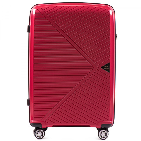 PP06, Large travel suitcase Wings L, Red - Polypropylene