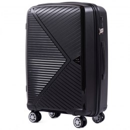PP06, Middle size suitcase Wings M, Black - Polipropyelene
