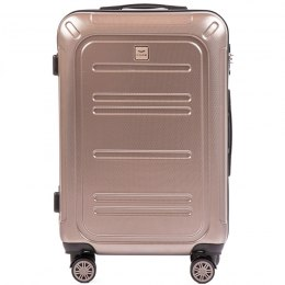 100 % POLICARBON / PC175, Middle size suitcase Wings M, Bronze/ 5 years warranty