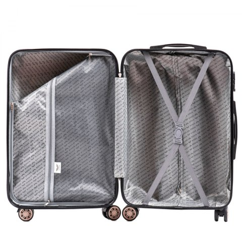100 % POLICARBON / PC175, Sets of 3 suitcases L,M,S, Grey / 5 years warranty