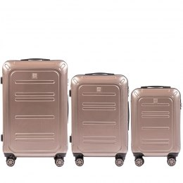 100 % POLICARBON / PC175, Sets of 3 suitcases L,M,S, Bronze / 5 years warranty