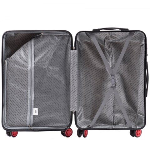 100 % POLICARBON / PC565, Sets of 3 suitcases L,M,S, Blood red / 5 years warranty