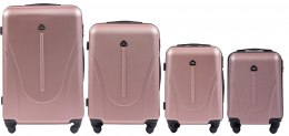 888, Luggage 4 sets (L,M,S,XS) Wings, Rose gold