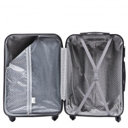 888, Luggage 4 sets (L,M,S,XS) Wings, Silver