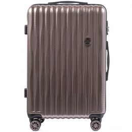 100 % POLICARBON / PC 5223, Middle size suitcase Wings M, Bronze/ 5 years warranty