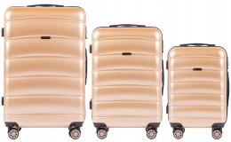 100 % POLICARBON / PC160, Sets of 3 suitcases L,M,S, Champagne / 5 years warranty