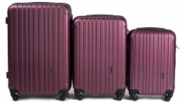 2011, Luggage 3 sets (L,M,S) Wings, Burgundy