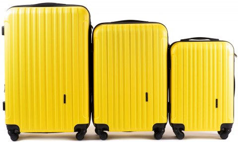 2011, Luggage 3 sets (L,M,S) Wings, Yellow