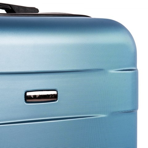 401, Large travel suitcase Wings L, Cyan