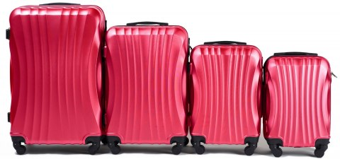 159, Luggage 4 sets (L,M,S,XS) Wings, Rose red