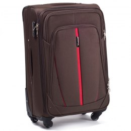 1706(4), Cabin soft travel suitcase 4 wheels Wings S, Coffee