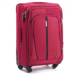 1706(4), Cabin soft travel suitcase 4 wheels Wings S, Double red