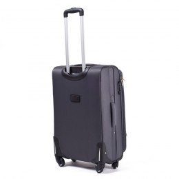 1706, Large soft travel suitcase 4 wheels Wings L, Dark grey