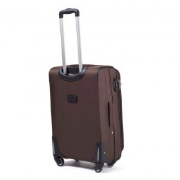 1706, Middle soft travel suitcase 4 wheels Wings M, Coffee