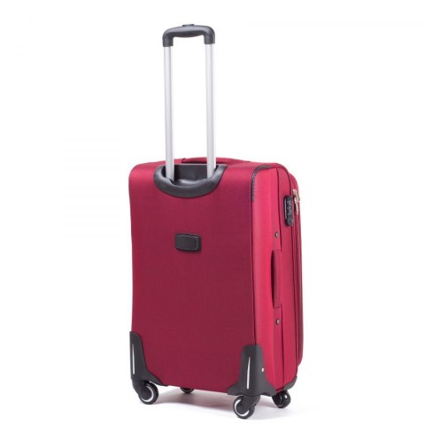 1706, Middle soft travel suitcase 4 wheels Wings M, Double red