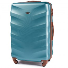 402, Large travel suitcase Wings L, Silver blue