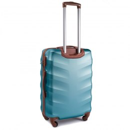 402, Middle size suitcase Wings M, Silver blue
