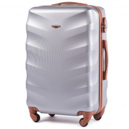 402, Middle size suitcase Wings M, Silver white
