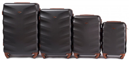 402, Luggage 4 sets (L,M,S,XS) Wings, Black
