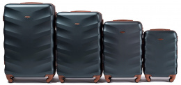 402, Luggage 4 sets (L,M,S,XS) Wings, Dark green