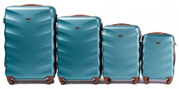 402, Luggage 4 sets (L,M,S,XS) Wings, Silver blue