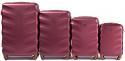 402, Luggage 4 sets (L,M,S,XS) Wings, Wine red