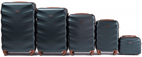 402, Luggage 5 sets (L,M,S,XS,BC) Wings, Dark green