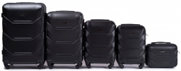 147, Luggage 5 sets (L,M,S,XS,BC) Wings, Black