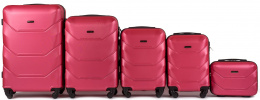 147, Luggage 5 sets (L,M,S,XS,BC) Wings, Rose red