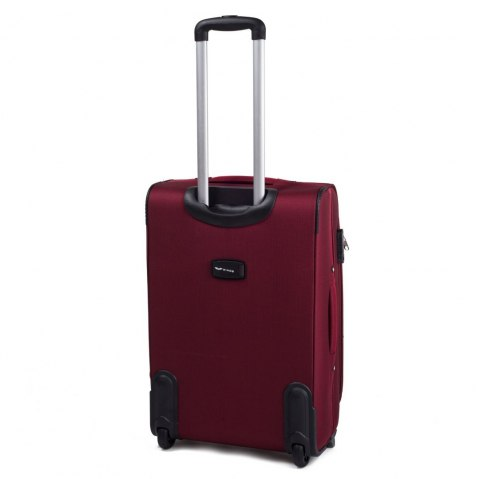 1708(2), Sets of 3 suitcases Wings 4 wheels L,M,S, Dark red