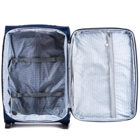 1708(2), Sets of 3 suitcases Wings 4 wheels L,M,S, Middle Blue