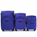 1708(4), Sets of 3 suitcases Wings 4 wheels L,M,S, Purple
