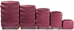 402, Luggage 5 sets (L,M,S,XS,BC) Wings, Wine red