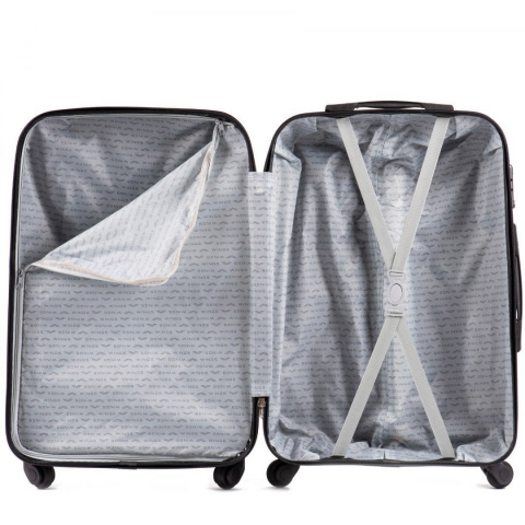 518, Large travel suitcase Wings L, Dark purple